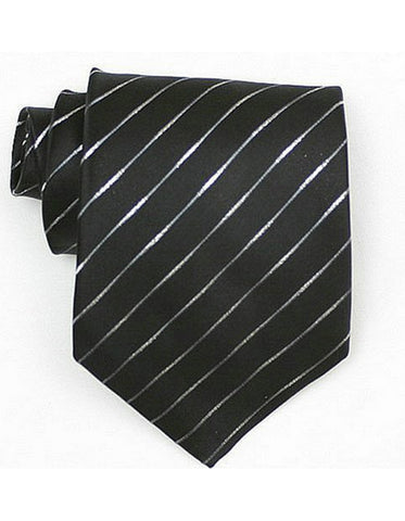 Black Stripe Neck Tie