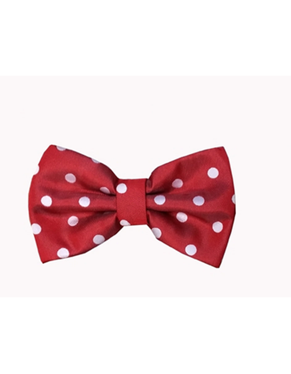 Red & White Polka Dot Bow Tie