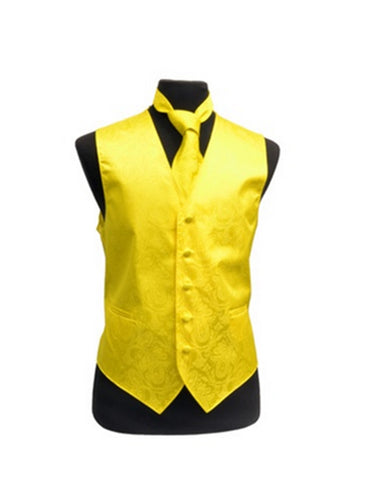 Yellow Paisley Vest Set