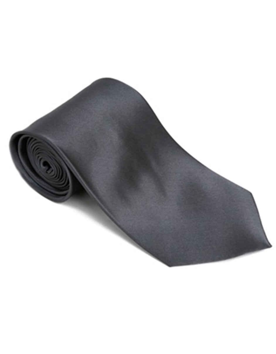 Solid Charcoal Neck Tie