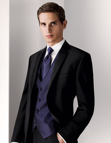 Mens Black Slim Notch Wedding | Prom Tuxedo