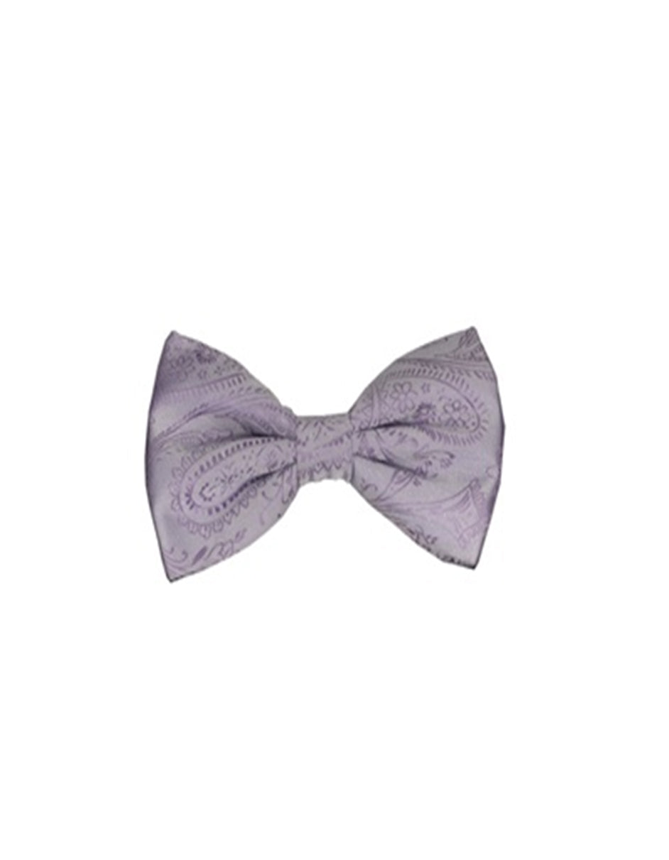 Lavender Paisley Bow Tie