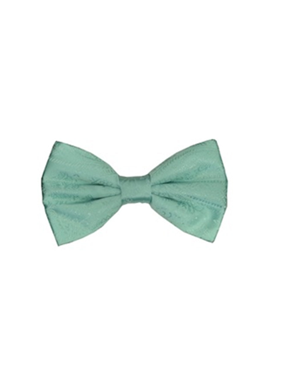 Mint Green Paisley Bow Tie