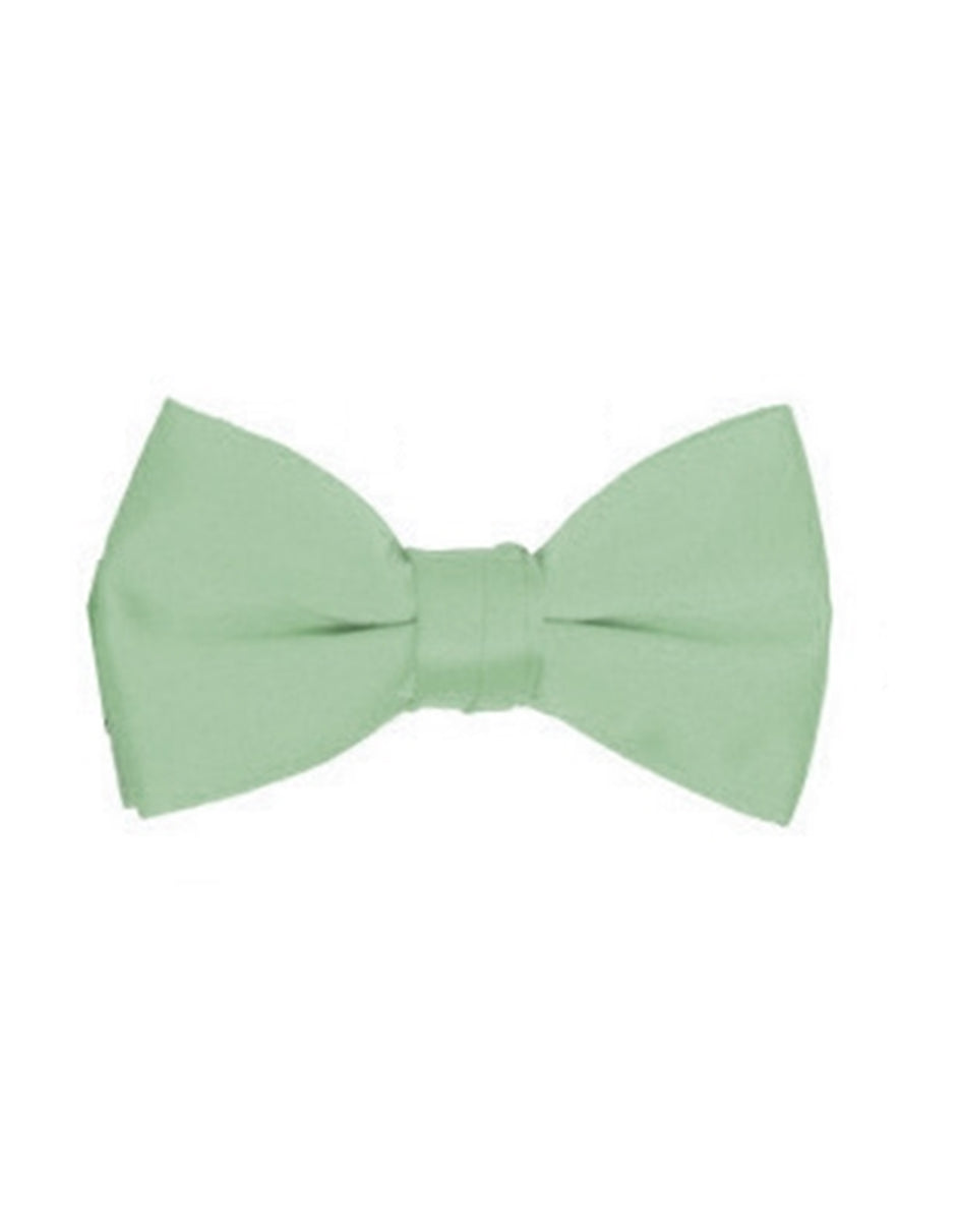 Mint Green Pre-Tied Bow Tie