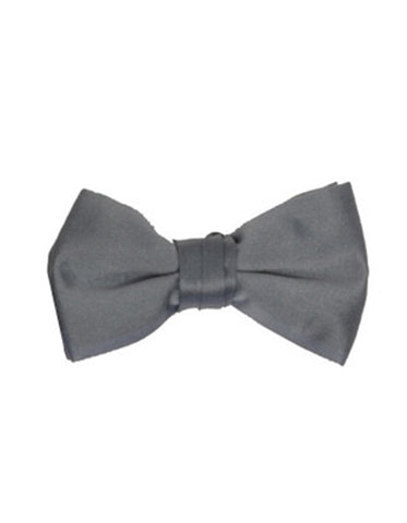 Charcoal Grey Pre-Tied Bow Tie