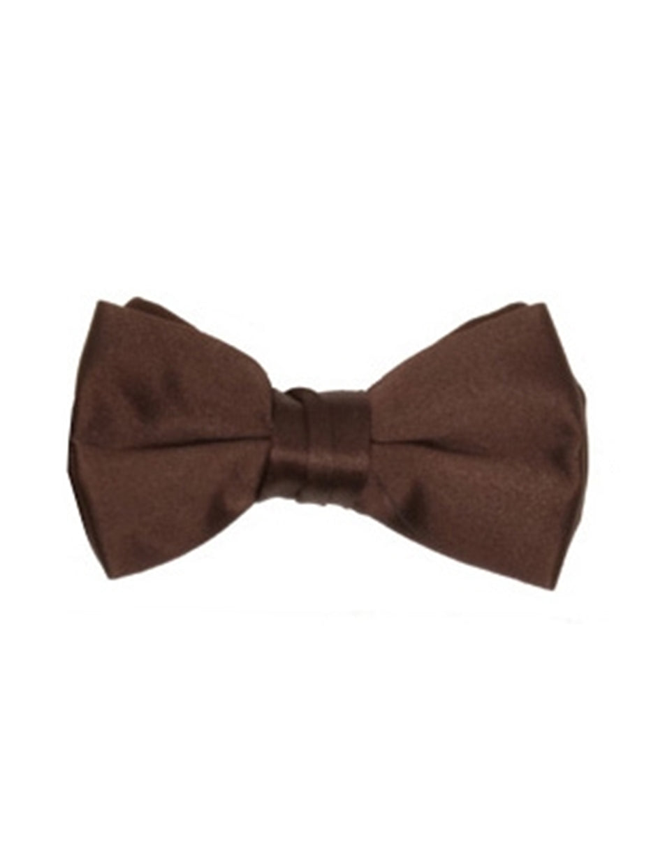 Chocolate Brown Pre-Tied Bow Tie