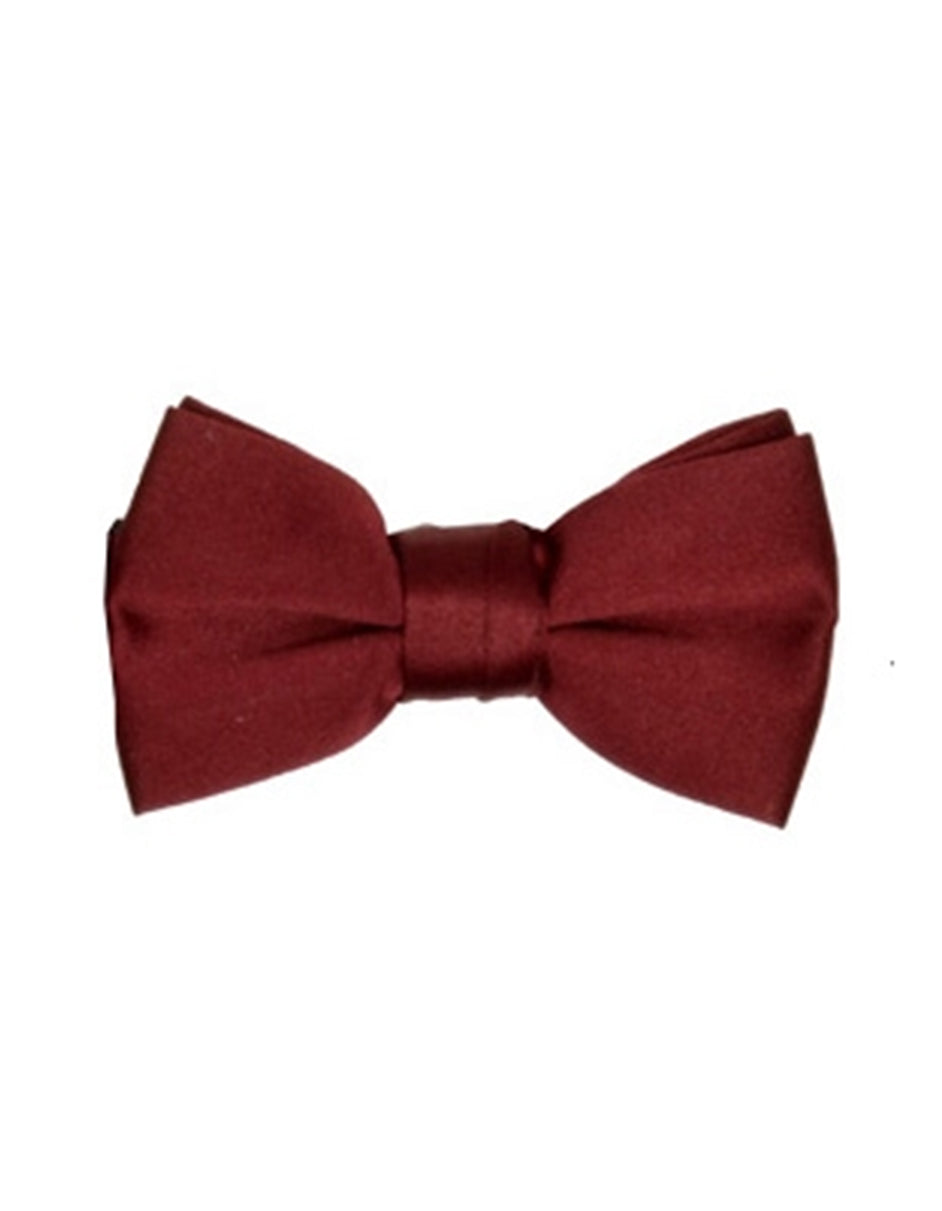 Deep Red Pre-Tied Bow Tie