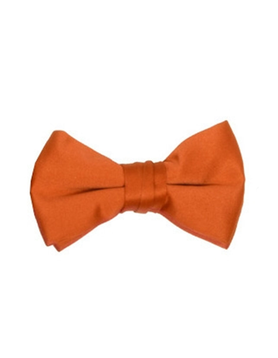 Solid Orange Bow Tie