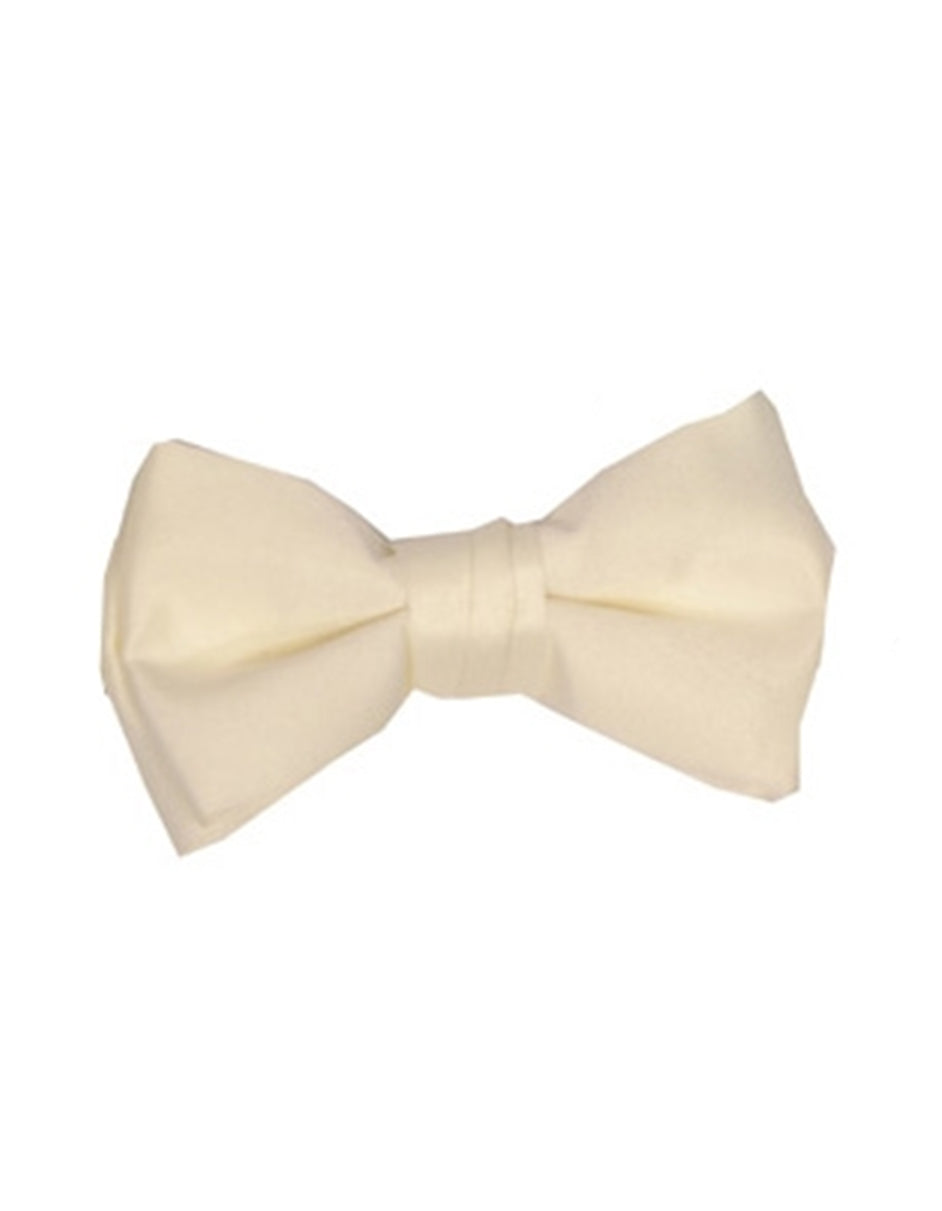 Solid Ivory Bow Tie