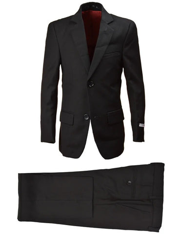 Little Boys and Toddlers Vested Suit in Black