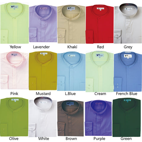 Mens Cotton Blend Mandarin Shirt