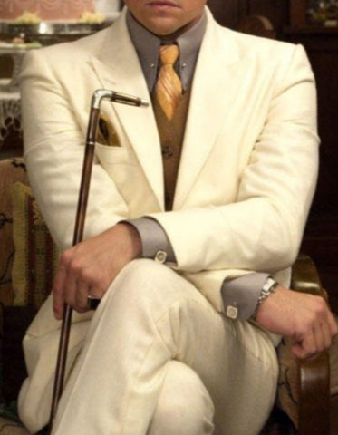 Mens Leonardo Dicaprio Great Gatsby Suit in Ivory