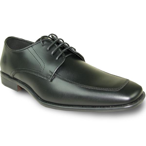 Mens Dress Shoe Oxford Formal Tuxedo for Prom & Wedding Black - Wide Width Available