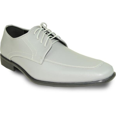 Mens Dress Shoe Oxford Formal Tuxedo for Prom & Wedding Grey