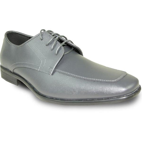 Mens Dress Shoe Oxford Formal Tuxedo for Prom & Wedding Charcoal Grey