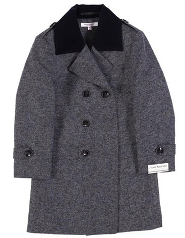 Little Boys and Toddlers Single Breasted Wool Peacoat in Grey