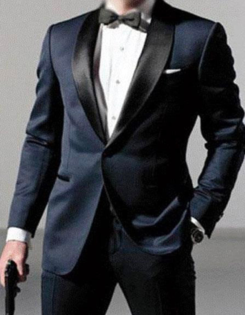 Mens Daniel Craig | James Bond | Navy Blue Tuxedo Costume