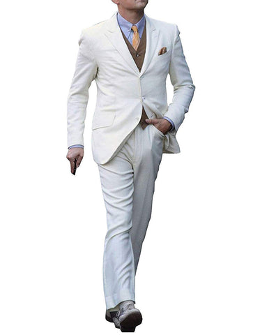 Mens Great Gatsby | Leonardo Dicaprio Suit in Ivory