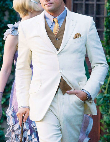 Mens Great Gatsby | Leonardo Dicaprio Suit in Cream