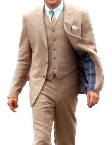 Mens Great Gatsby | Leonardo Dicaprio Suit in Light Brown