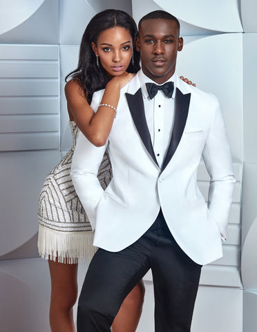 Mens Franklin Wedding - Prom Tuxedo White