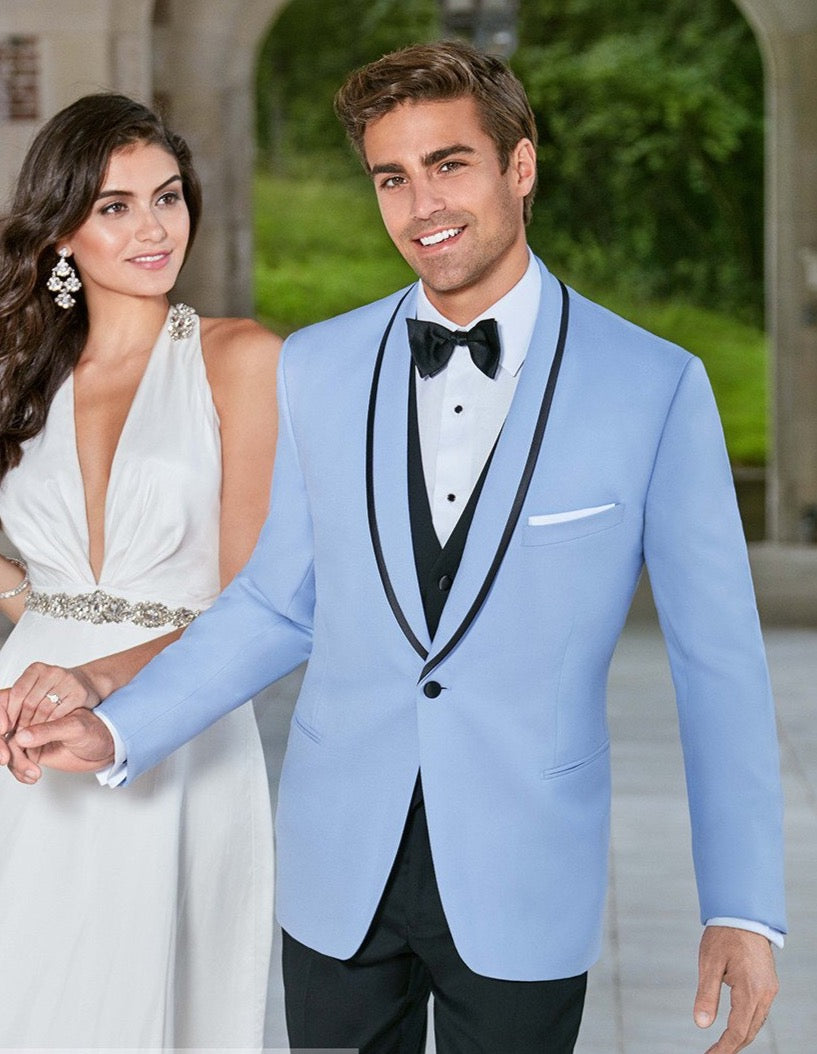 Ike Behar Valencia Tuxedo Powder Blue
