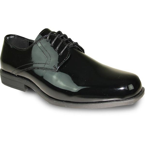 JEAN YVES Men Dress Shoe Oxford Formal Tuxedo for Prom & Wedding Shoe Black Patent