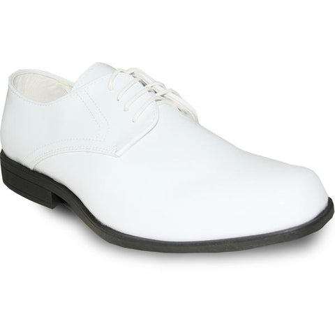JEAN YVES Men Dress Shoe Oxford Formal Tuxedo for Prom & Wedding Shoe White Patent