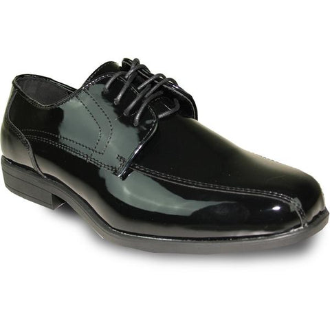 JEAN YVES Men Dress Shoe Oxford Formal Tuxedo for Prom & Wedding Shoe Black Patent - Wide Width Available
