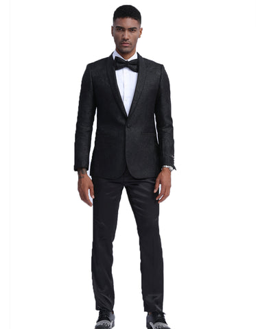 Mens Empire Black Sparkle Prom Blazer