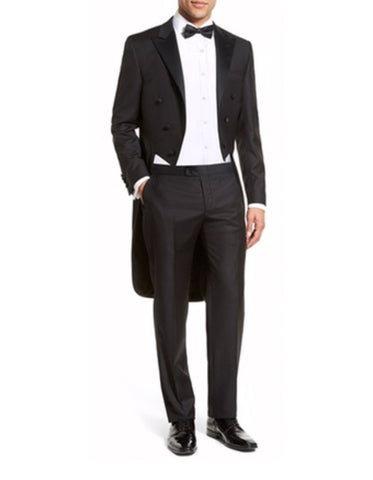 Mens Slim Fit Tail Tuxedo in Black