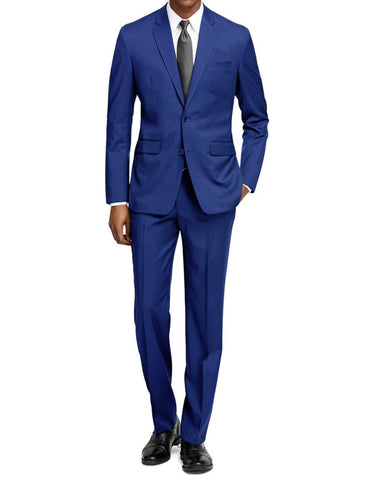Mens Cheap Slim Fit Suit Cobalt Blue