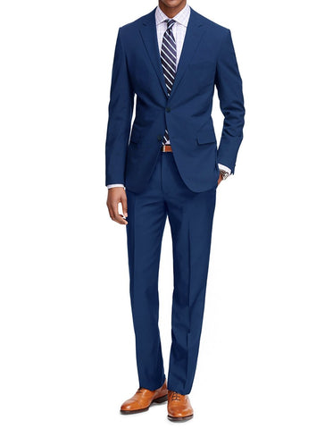 Mens Cheap Slim Fit Suit Indigo Blue