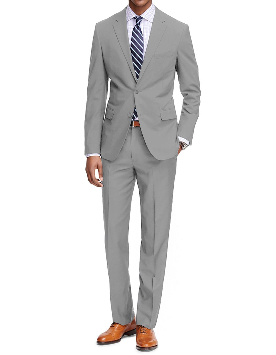 Mens Slim Fit Suit Lt Grey