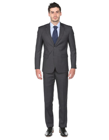 Mens Classic Fit Suit Charcoal Grey