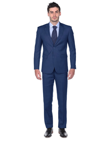 Mens Classic Fit Suit Indigo Blue