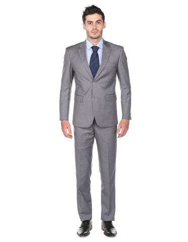 Mens Classic Fit Suit Light Grey
