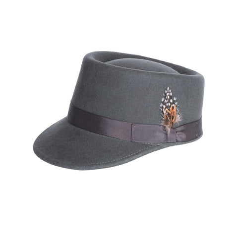 Mens Conductor Hat in Grey