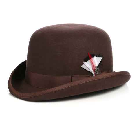 Mens Derby Hat in Brown
