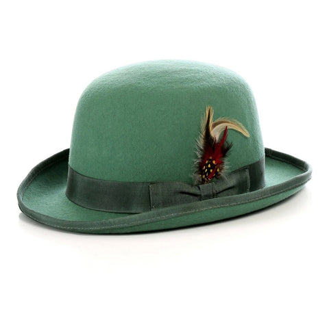 Mens Derby Hat in Emerald Green