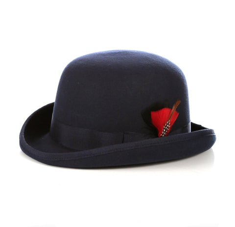 Mens Derby Hat in Navy