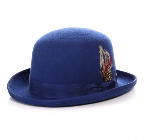 Mens Derby Hat in Royal Blue