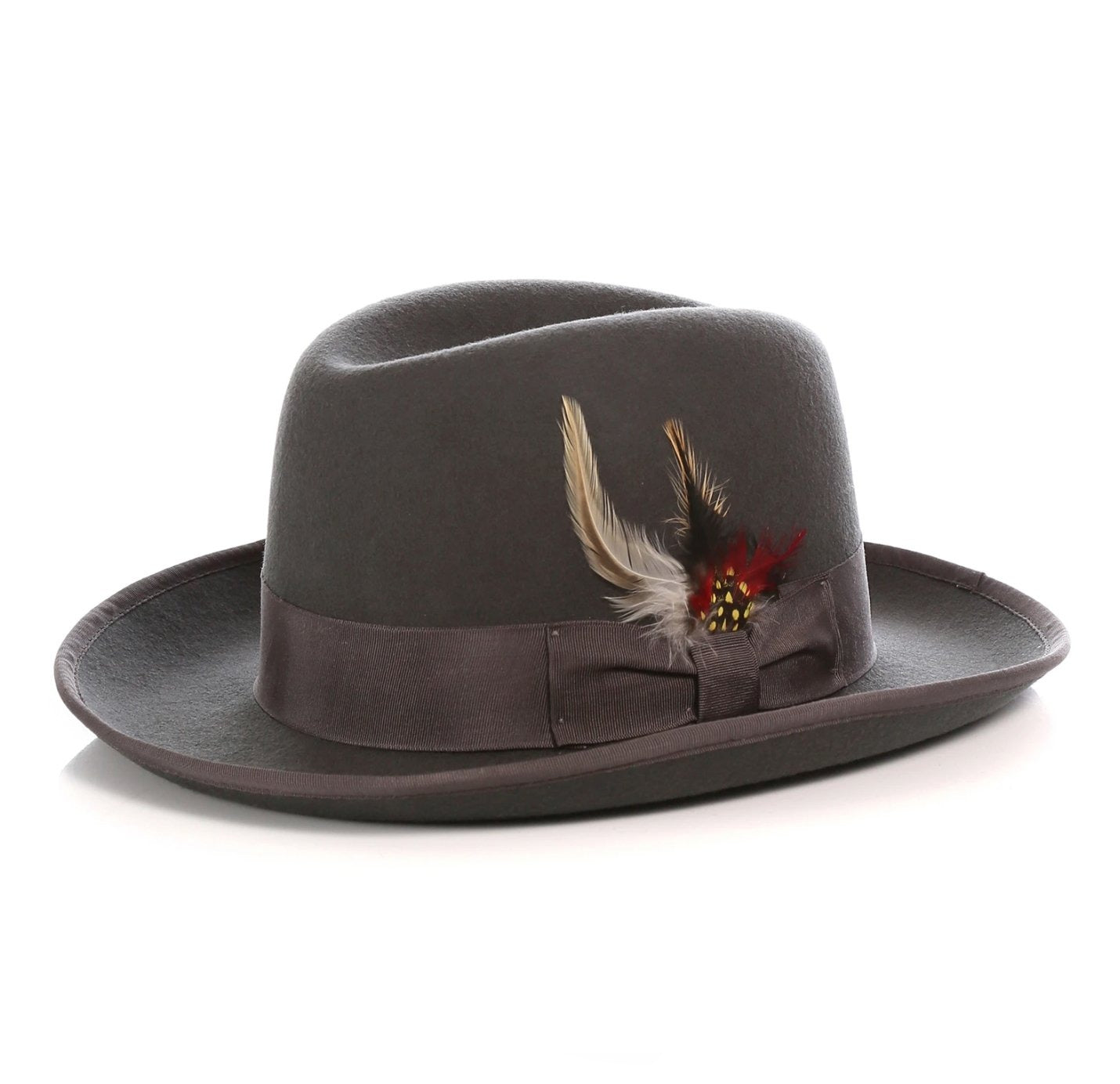 Mens Gangster Godfather Hat in Charcoal