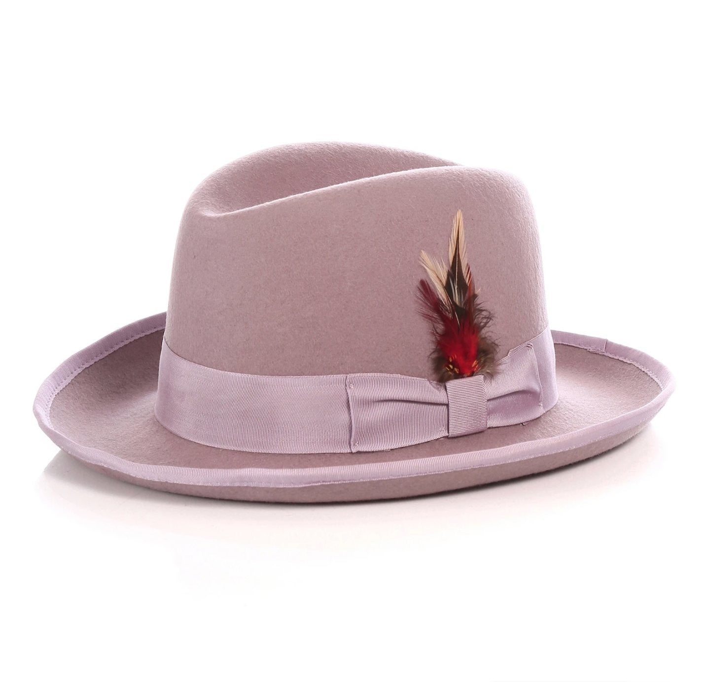 Mens Gangster Godfather Hat in Lavender