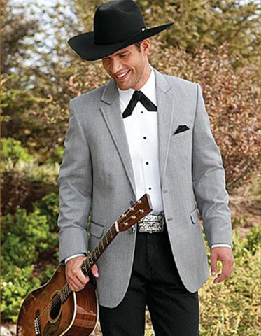 2 Button  Cowboy Dinner Jacket in Grey