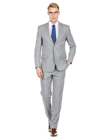 Mens Modern Fit Summer Wedding Suit Light Grey