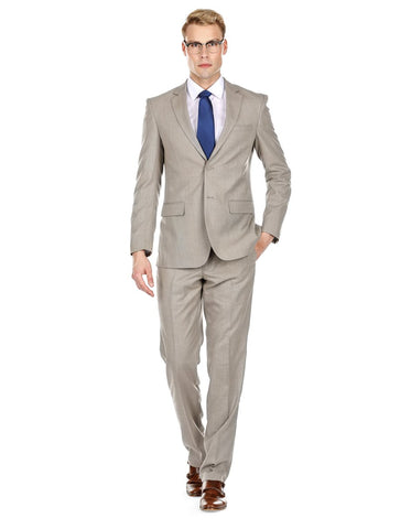 Mens Modern Fit Summer Wedding Suit Light Taupe