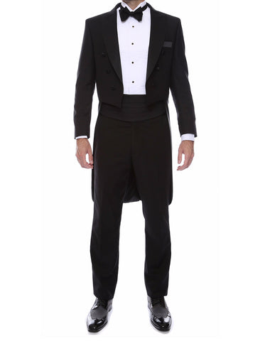 Mens Modern Tail Tuxedo in Black