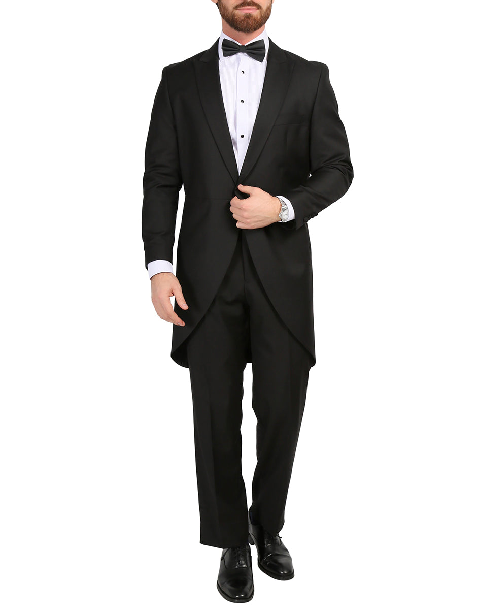 Mens Traditional Morning Jacket / Tuxedo in Black