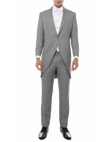 Mens Traditional Wedding Morning Jacket / Tuxedo in Light Grey